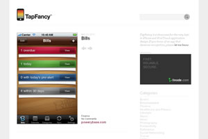 TapFancy – An iPhone app design showcase and gallery