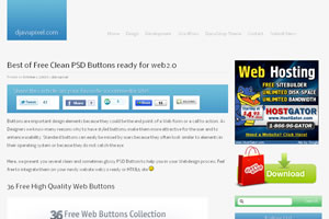 Best of Free Clean PSD Buttons ready for web2.0  djavupixel.com