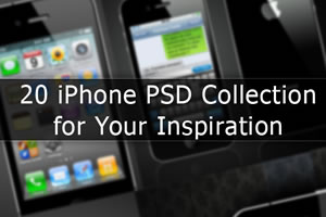 20 iPhone PSD Collection for Your Inspiration