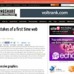 Top 6 mistakes of a first time web designer